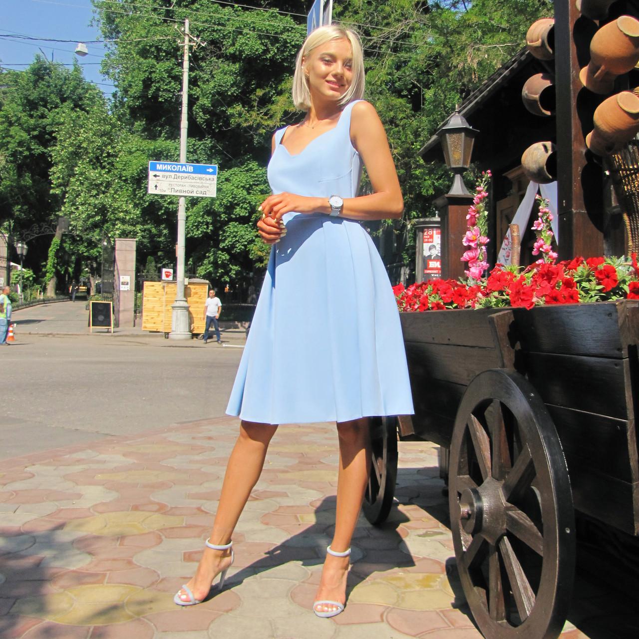 Платье Долли голубое, арт.1013