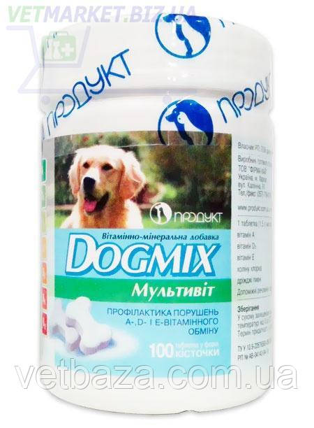 Догмикс (Dogmix) витаминно-минеральная добавка для собак мультивит, 100 табл., Продукт