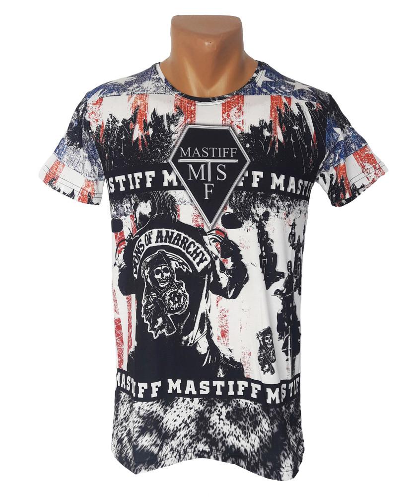 Мужская приталенная футболка Mastiff - №4188
