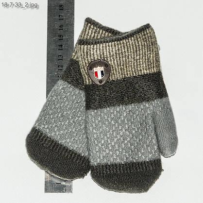 Оптом детские варежки для мальчика на 2-4 года - №18-7-33, фото 2