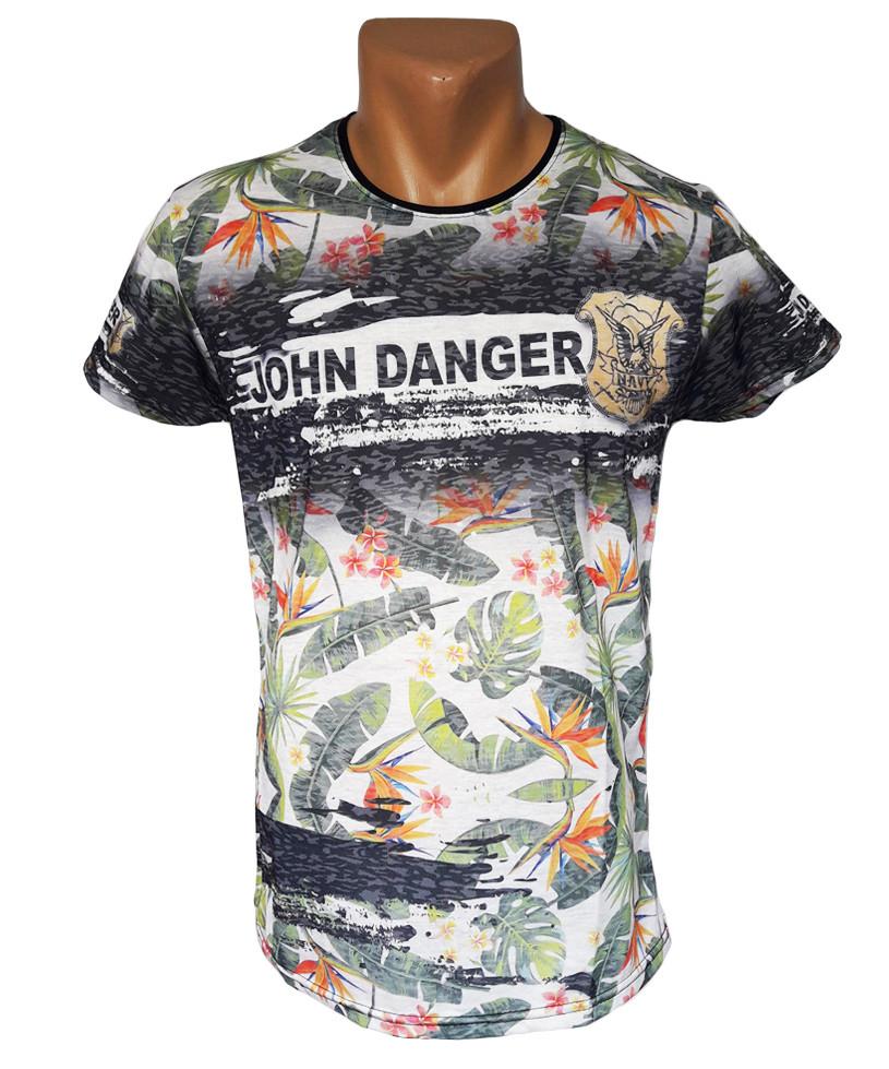 Стильная мужская футболка - №4255