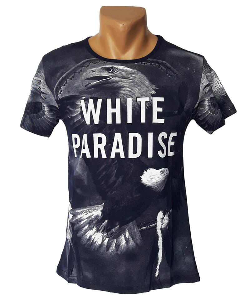 Мужская футболка White Paradise - №4267