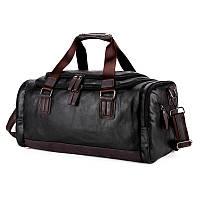 Дорожная сумка мужская Polo Vicuna эко-кожа черная
