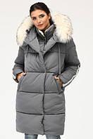 Длинная куртка парка с натуральным меховым воротником, с 42-48 размер