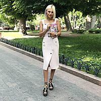 Платье-сарафан бежевое, арт.1014, фото 1