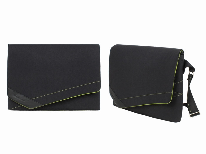 Сумка портфель для ноутбука черная