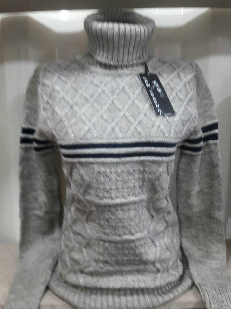 Женский стильный теплый свитер с горлом р. 44-48 Турция