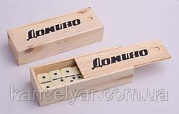 Домино: деревянная коробка, 28 костей