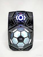 Колонка-чемодан Q8 портативная колонка c микрофоном.