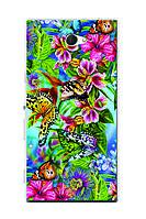 Чехол для Sony Xperia M2 D2302 (тропические бабочки)