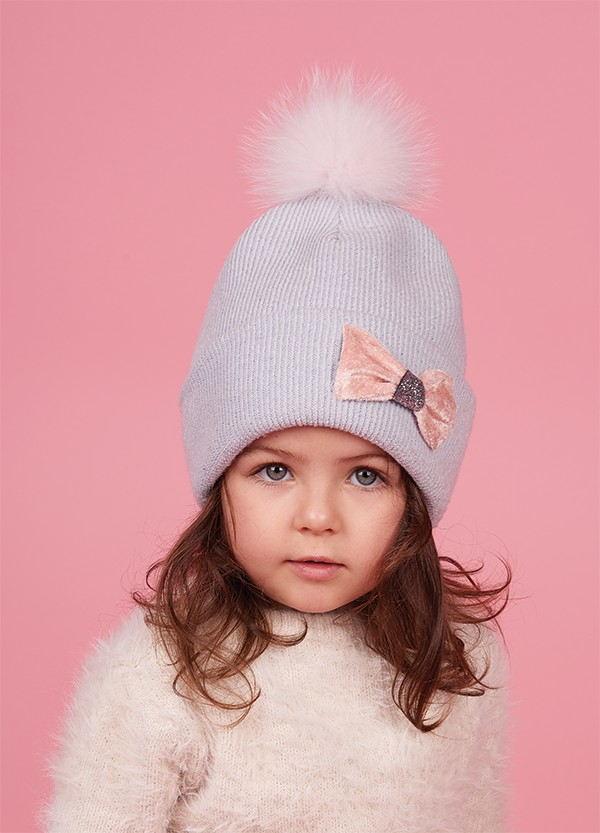 Детская зимняя шапка  для девочек ЧЕРИКА оптом размер 46-48-50