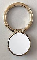 Кольцо держатель самоклеющееся для телефона в форме круга с бабочкой, светлое золото