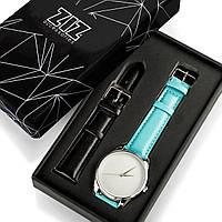 """Часы """"Небесно-голубой минимализм"""" подарок женщине, фото 1"""