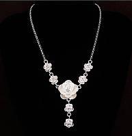 Стильное женское ожерелье с цветами ТБ-151