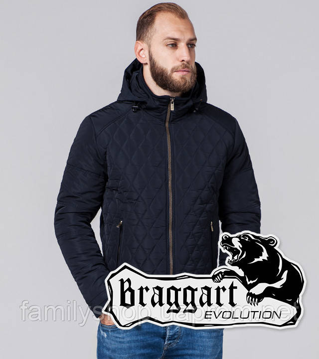 Braggart Evolution 2686 | Мужская куртка темно-синяя