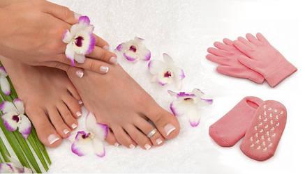 Гелевые увлажняющие спа носочки 1 пара, фото 2