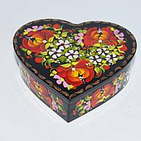 Украинские сувениры. Шкатулка деревянная. Пышные маки