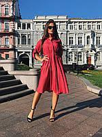 Платье-рубашка красное, арт.1017, фото 1