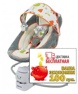 Кресло-качалка Baby Mix BY002 grey