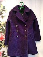Пальто на девочку, р. 122-134, цвет фиолетовый