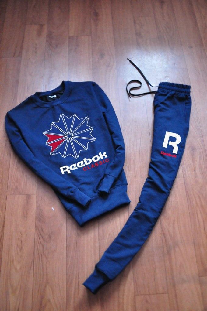 Спортивний костюм чоловічий Reebok Classic темно-синій (репліка)