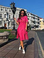 Платье-рубашка малиновое, арт.1017, фото 1