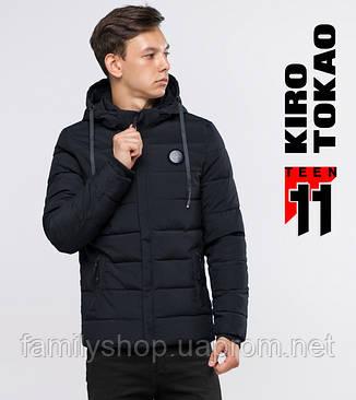 11  Kiro Tоkao   Зимняя куртка на подростка 6015-1 черная, фото 2