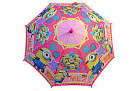Зонт детский Миньоны розовый
