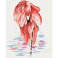 """Картины по номерам """"Грациозный фламинго """"40*50см."""