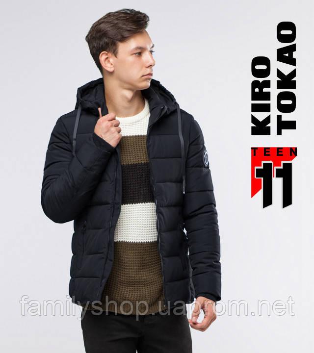 11 Киро Токао | Зимняя куртка подростковая 6016-1 черная