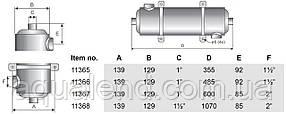 Теплообмінник Pahlen Maxi-Flo трубчастий MF 260, 75кВт, фото 2