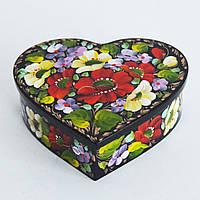 Украинские сувениры. Шкатулка деревянная. Букет с сиренью-2