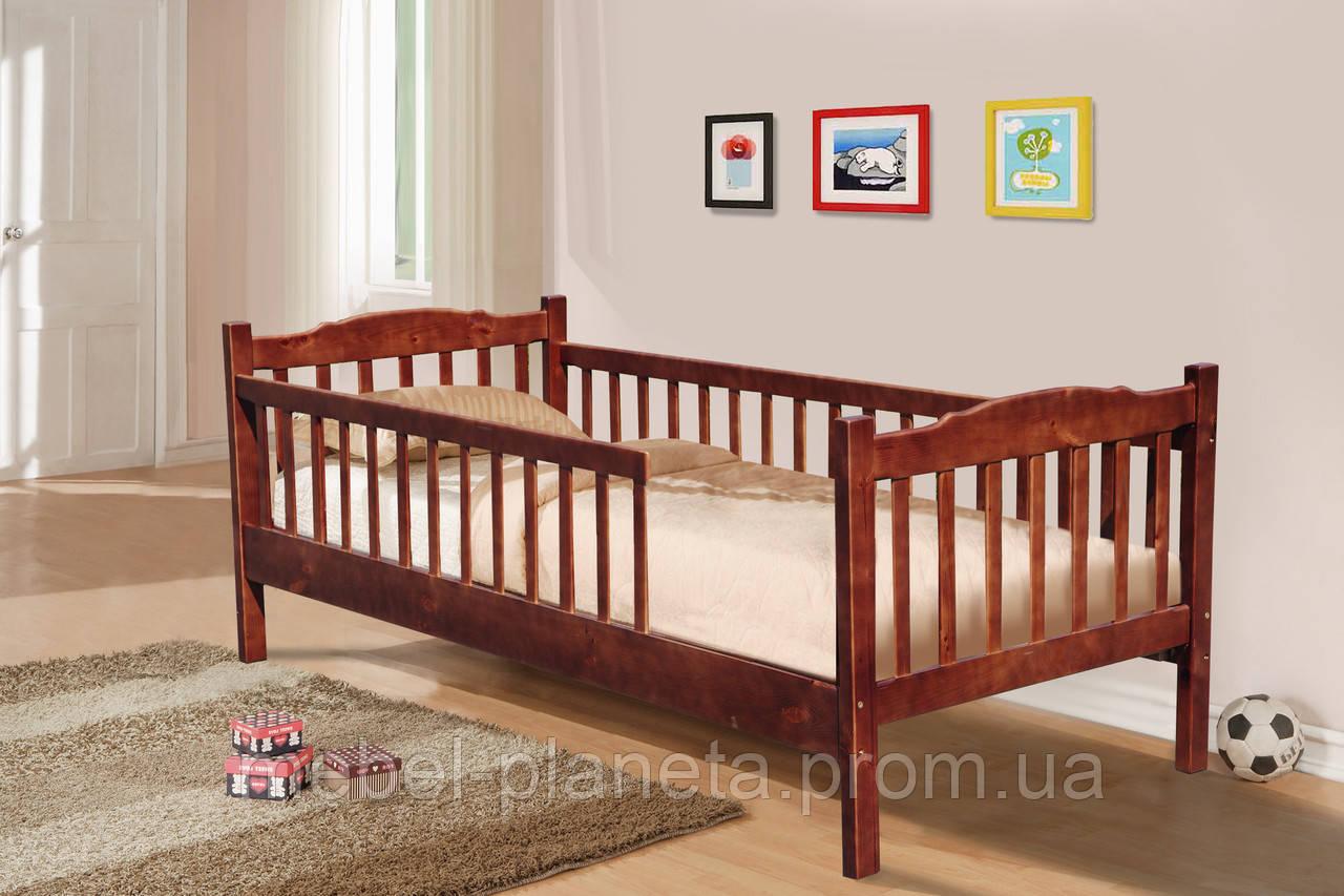 Кровать детская с бортиком Юниор Микс Мебель