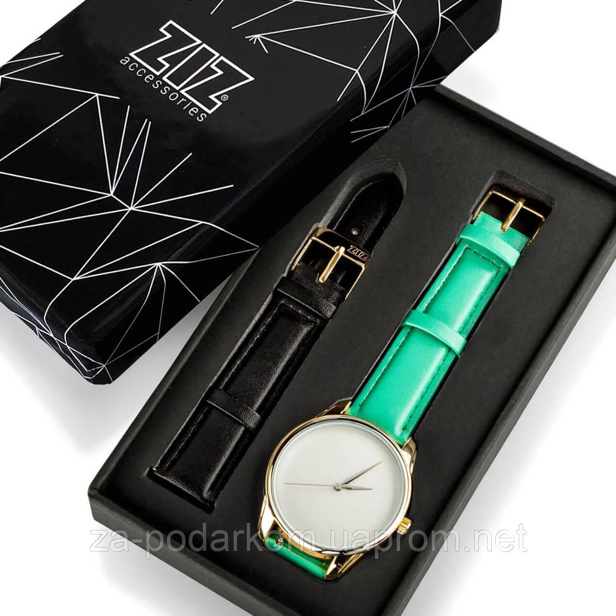 """Годинник """"М'ятно-бірюзовий мінімалізм"""" подарунок жінці"""