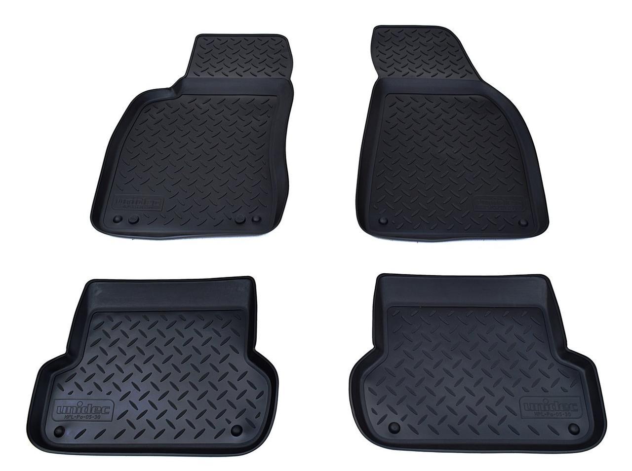 Коврики в салон для Audi A4 (B6,8E/B7,8E) (01-07) (полиур., компл - 4шт) NPL-Po-05-30