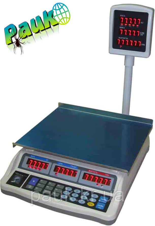 Торговые весы, 6 кг ВТД-ЕЛ(F902H-6E) Днепровес