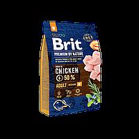 Сухой корм 3 кг для взрослых собак средних пород Брит Премиум / Adult M Brit Premium