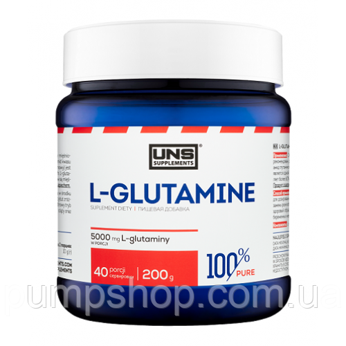 Глютамин UNS 100% Pure L-glutamine 200 г