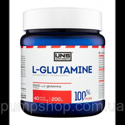 Глютамин UNS 100% Pure L-glutamine 200 г, фото 2