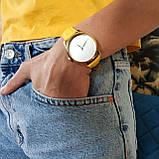 """Часы """"Лимонно-желтый минимализм"""" подарок женщине, фото 5"""