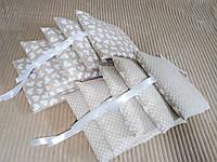 Подушки бортики в кроватку ( хлопок ткань)