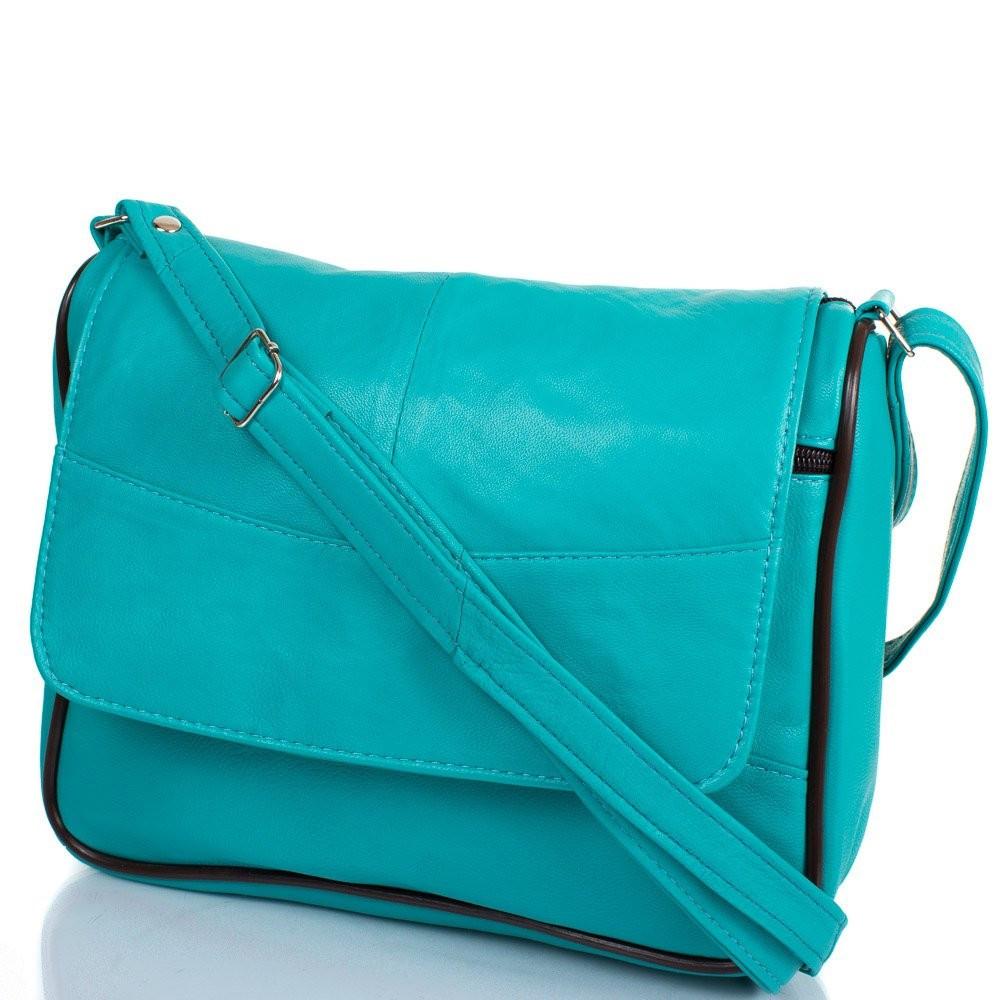 f3a00dd54eff Женская кожаная бирюзовая сумка-почтальонка TUNONA SK2416-14 - Интернет- магазин одежды,