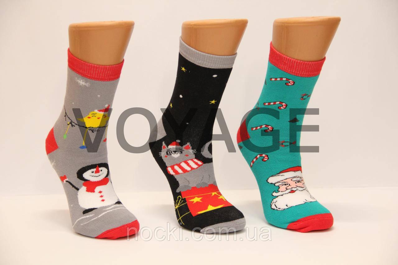 Махровые женские новогодние носки Ж-30