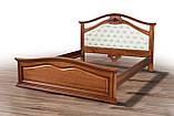 Ліжко двоспальне дерев'яне Маргарита, фото 2