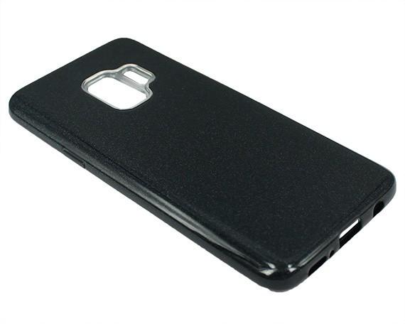 """Накладка Samsung S9 """"Shine"""" Чёрная"""