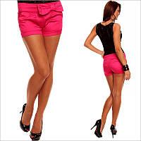 Короткие женские шорты ярко-розового цвета