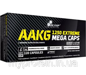 OLIMP Аргинин альфа-кетоглютарат AAKG 1250 Extreme Mega Caps (120 caps)