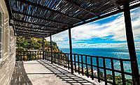 Фотообои 3D природа 368х254 см : Балкон с видом на море (11695CN)