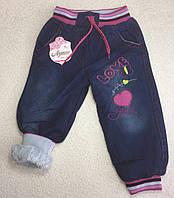 Теплые детские джинсы на махре для девочек 3-7 лет Турция, фото 1