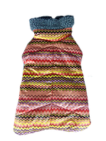 Зимняя попона с мехом для девочек разноцветная